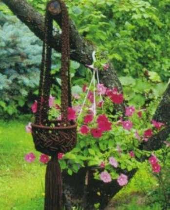 Изготовление подвесных плетеных кашпо
